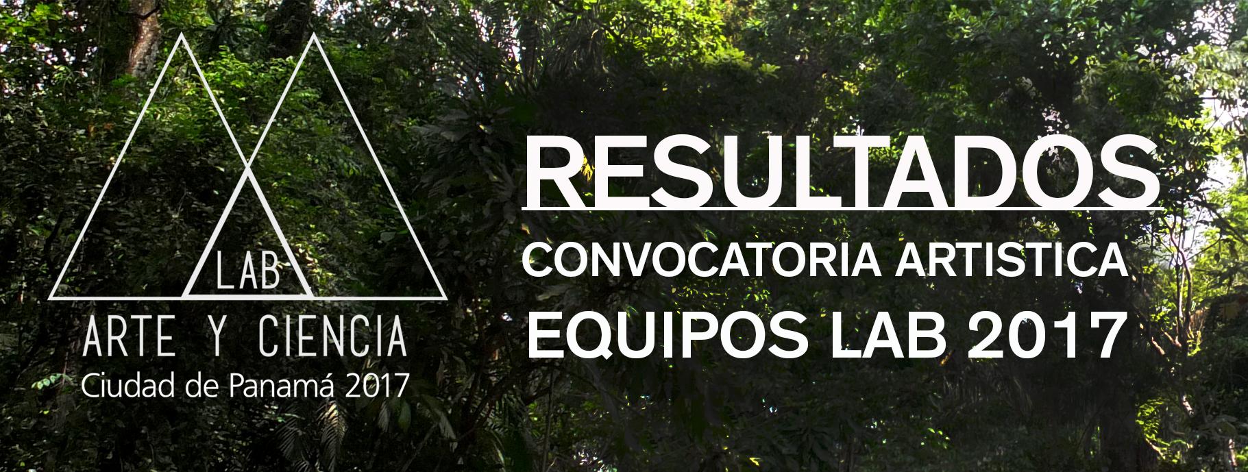Resultados de la convocatoria artística – Equipos seleccionados para el LAB 2017